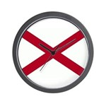 Alabama Flag Wall Clock