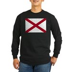 Alabama Flag Long Sleeve Dark T-Shirt