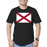 Alabama Flag Men's Fitted T-Shirt (dark)