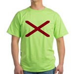 Alabama Flag Green T-Shirt