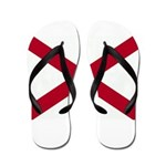 Alabama Flag Flip Flops