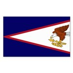 American Samoa Flag Sticker (Rectangle 50 pk)