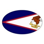 American Samoa Flag Sticker (Oval)
