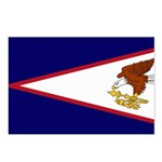 American Samoa Flag Postcards (Package of 8)