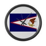 American Samoa Flag Large Wall Clock