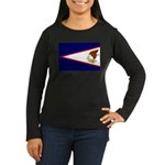 American Samoa Flag Women's Long Sleeve Dark T-Shi