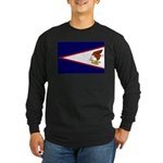 American Samoa Flag Long Sleeve Dark T-Shirt