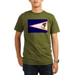 American Samoa Flag Organic Men's T-Shirt (dark)