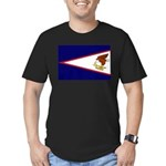 American Samoa Flag Men's Fitted T-Shirt (dark)