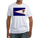 American Samoa Flag Fitted T-Shirt