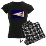 American Samoa Flag Women's Dark Pajamas