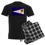 American Samoa Flag Men's Dark Pajamas