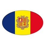 Andorra Flag Sticker (Oval 50 pk)