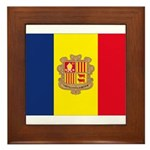 Andorra Flag Framed Tile