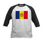 Andorra Flag Kids Baseball Jersey