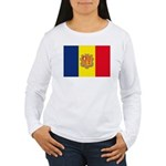 Andorra Flag Women's Long Sleeve T-Shirt