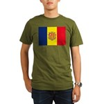 Andorra Flag Organic Men's T-Shirt (dark)