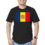 Andorra Flag Men's Fitted T-Shirt (dark)