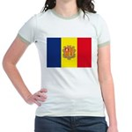 Andorra Flag Jr. Ringer T-Shirt