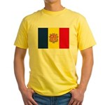 Andorra Flag Yellow T-Shirt