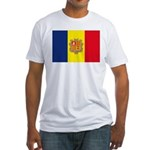 Andorra Flag Fitted T-Shirt