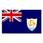 Anguilla Flag Sticker (Rectangle 10 pk)