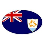 Anguilla Flag Sticker (Oval)