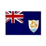 Anguilla Flag Rectangle Magnet (100 pack)