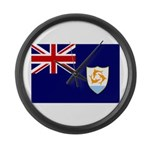 Anguilla Flag Large Wall Clock