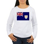 Anguilla Flag Women's Long Sleeve T-Shirt