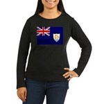 Anguilla Flag Women's Long Sleeve Dark T-Shirt