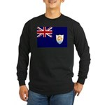 Anguilla Flag Long Sleeve Dark T-Shirt