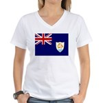 Anguilla Flag Women's V-Neck T-Shirt