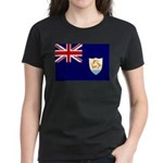 Anguilla Flag Women's Dark T-Shirt