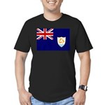 Anguilla Flag Men's Fitted T-Shirt (dark)