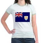 Anguilla Flag Jr. Ringer T-Shirt