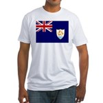 Anguilla Flag Fitted T-Shirt