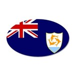 Anguilla Flag 38.5 x 24.5 Oval Wall Peel