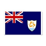 Anguilla Flag Car Magnet 20 x 12