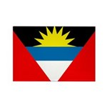 Antigua and Barbuda Flag Rectangle Magnet (100 pac