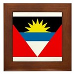 Antigua and Barbuda Flag Framed Tile