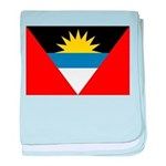 Antigua and Barbuda Flag baby blanket