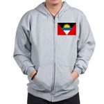 Antigua and Barbuda Flag Zip Hoodie