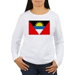 Antigua and Barbuda Flag Women's Long Sleeve T-Shi
