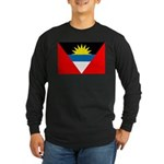Antigua and Barbuda Flag Long Sleeve Dark T-Shirt