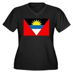 Antigua and Barbuda Flag Women's Plus Size V-Neck