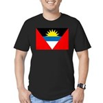 Antigua and Barbuda Flag Men's Fitted T-Shirt (dar