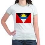Antigua and Barbuda Flag Jr. Ringer T-Shirt