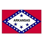 Arkansas Flag Sticker (Rectangle 10 pk)