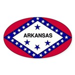 Arkansas Flag Sticker (Oval 10 pk)